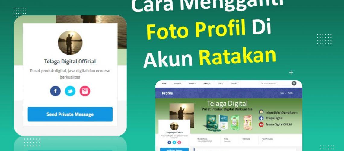 Cara Mengganti Foto Profil Akun Ratakan